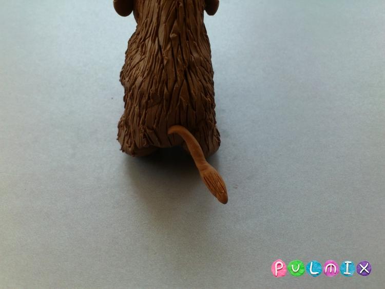 Как слепить мамонта из пластилина поэтапно - шаг 8