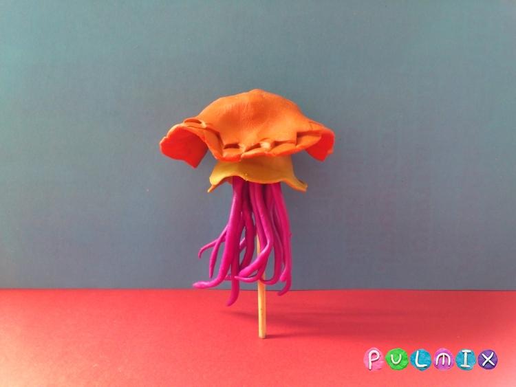 Как слепить медузу из пластилина поэтапно - шаг 10