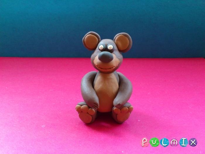 Как слепить мишку из пластилина пошаговый урок - шаг 10