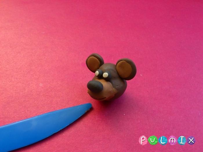 Как слепить мишку из пластилина пошаговый урок - шаг 4