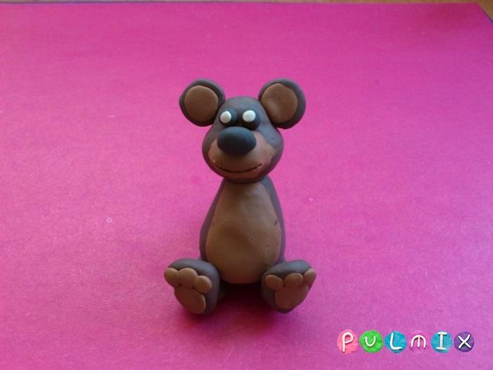 Как слепить мишку из пластилина пошаговый урок - шаг 7