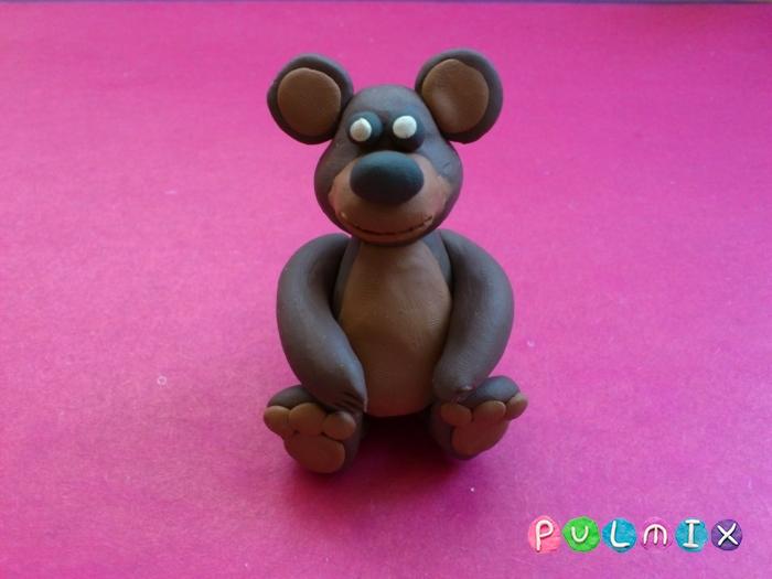 Как слепить мишку из пластилина пошаговый урок - шаг 8