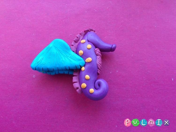 Как слепить морского конька из пластилина поэтапно - шаг 6