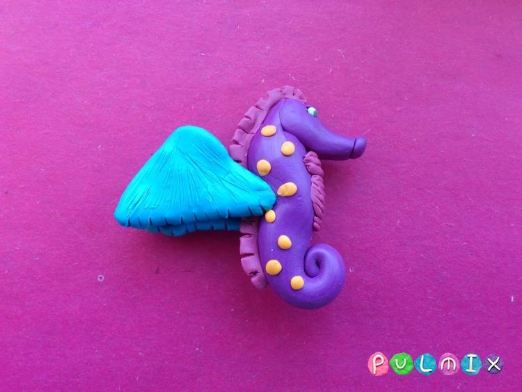 Как слепить морского конька из пластилина поэтапно - шаг 7