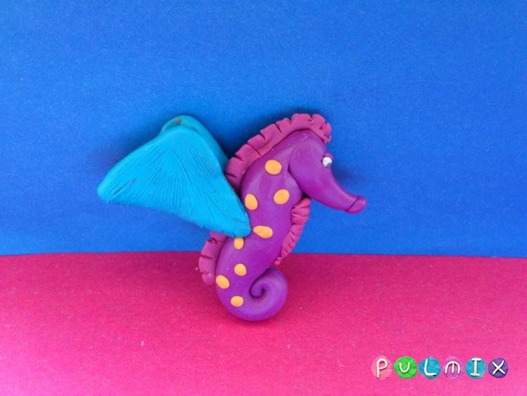 Как слепить морского конька из пластилина поэтапно - шаг 8