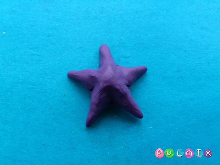 Как слепить морскую звезду из пластилина поэтапно - шаг 4