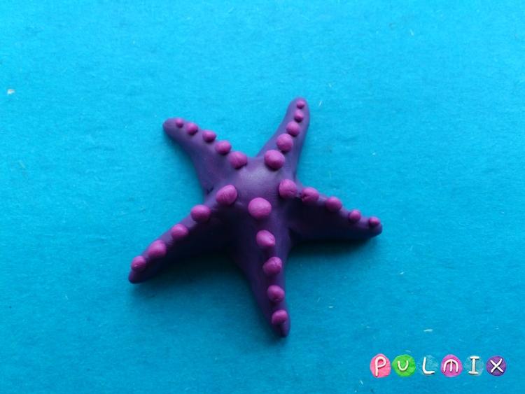Как слепить морскую звезду из пластилина поэтапно - шаг 5