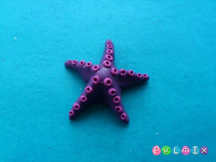 Как слепить морскую звезду из пластилина поэтапно - шаг 7