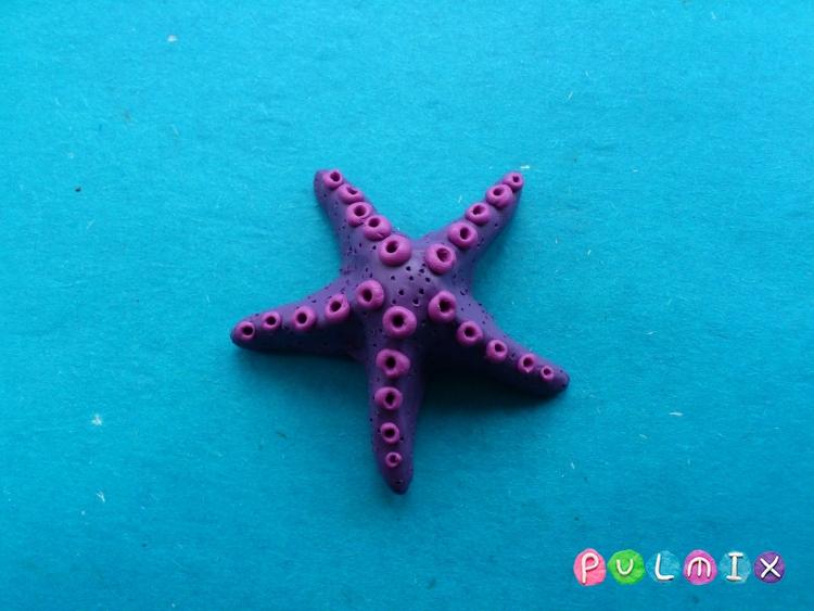 Как слепить морскую звезду из пластилина поэтапно - шаг 8