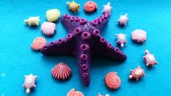 Как слепить морскую звезду из пластилина поэтапно