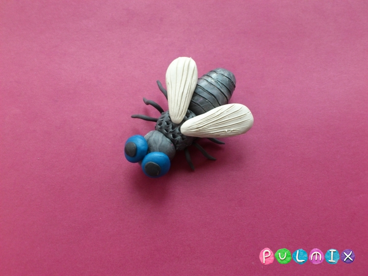 Как слепить муху из пластилина из пластилина - шаг 10