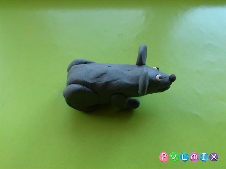 Как слепить мышку из пластилина поэтапно - шаг 6