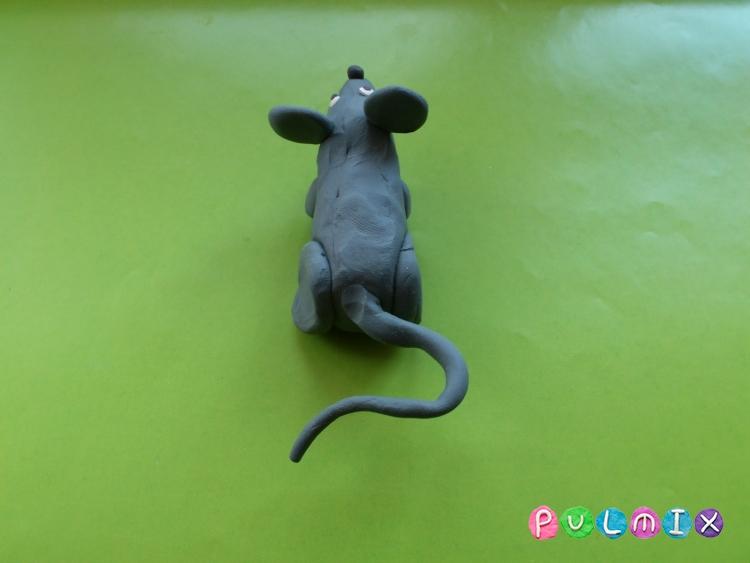 Как слепить мышку из пластилина поэтапно - шаг 8
