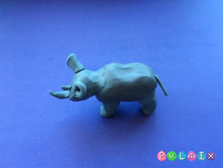 Как слепить носорога из пластилина поэтапно - шаг 7