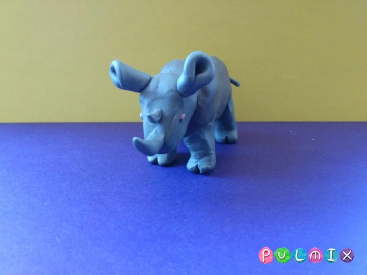 Как слепить носорога из пластилина поэтапно - шаг 8