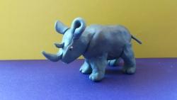 Как слепить носорога из пластилина поэтапно
