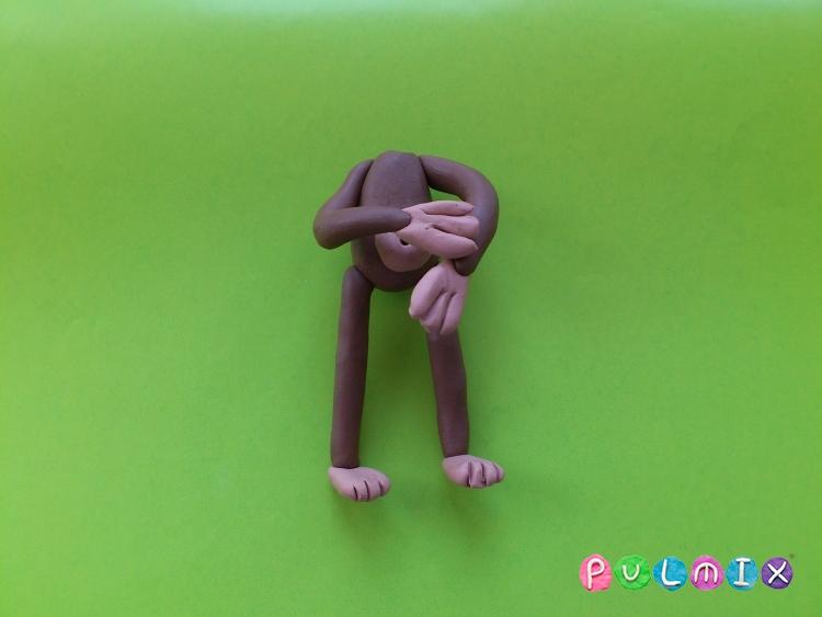 Как слепить обезьяну из пластилина поэтапно - шаг 8