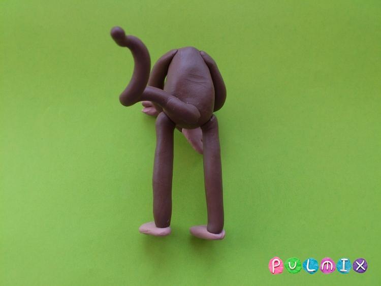Как слепить обезьяну из пластилина поэтапно - шаг 9