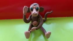 Как слепить обезьяну из пластилина своими руками поэтапно