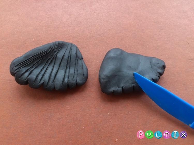 Как слепить орла из пластилина поэтапно - шаг 6