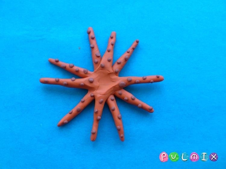 Как слепить осьминога из пластилина поэтапно - шаг 5