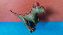 Как слепить динозавтра пахицефалозавра из пластилина