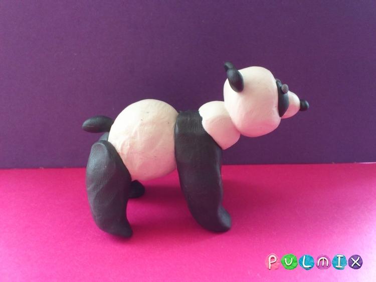 Как слепить панду из пластилина поэтапный фото урок - шаг 10