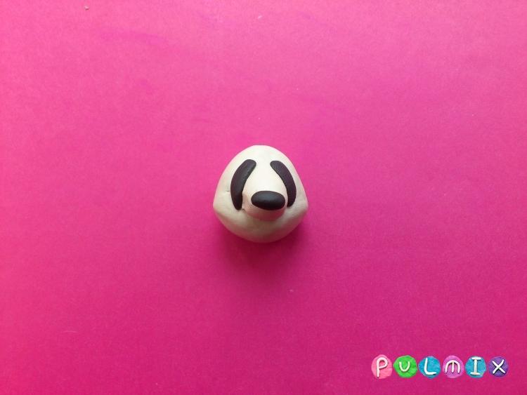 Как слепить панду из пластилина поэтапный фото урок - шаг 3