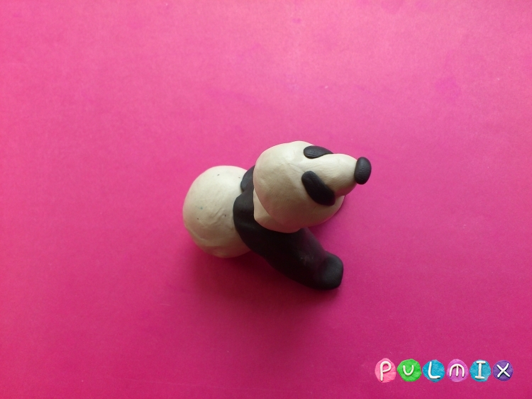 Как слепить панду из пластилина поэтапный фото урок - шаг 6