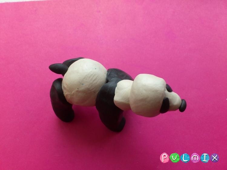 Как слепить панду из пластилина поэтапный фото урок - шаг 8