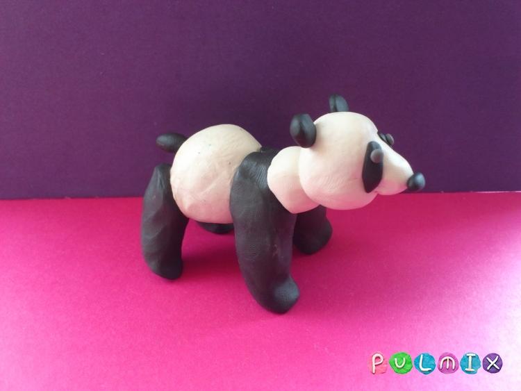 Как слепить панду из пластилина поэтапный фото урок - шаг 9