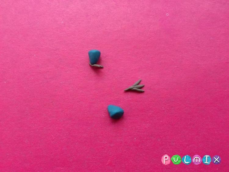 Как слепить павлина из пластилина поэтапно - шаг 15