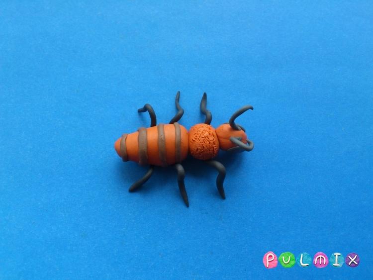 Как слепить пчелу из пластилина поэтапно - шаг 6