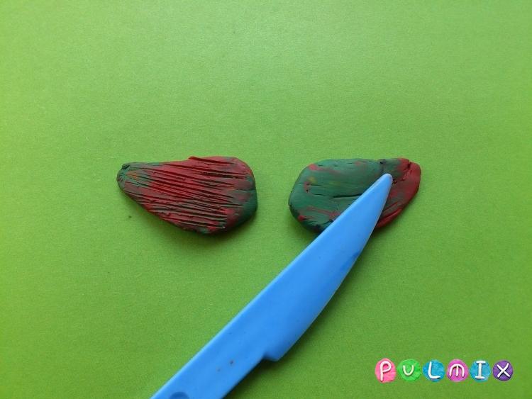 Как слепить петуха из пластилина фото инструкция - шаг 5