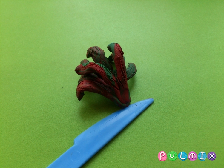 Как слепить петуха из пластилина фото инструкция - шаг 7