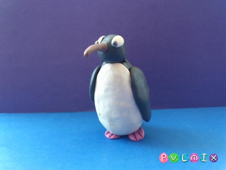 Как слепить пингвина из пластилина поэтапно - шаг 10