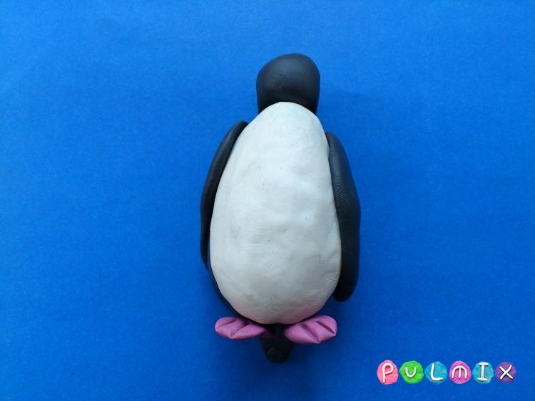 Как слепить пингвина из пластилина поэтапно - шаг 8