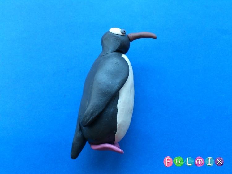 Как слепить пингвина из пластилина поэтапно - шаг 9