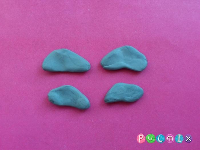 Как слепить плезиозавра из пластилина поэтапно - шаг 5