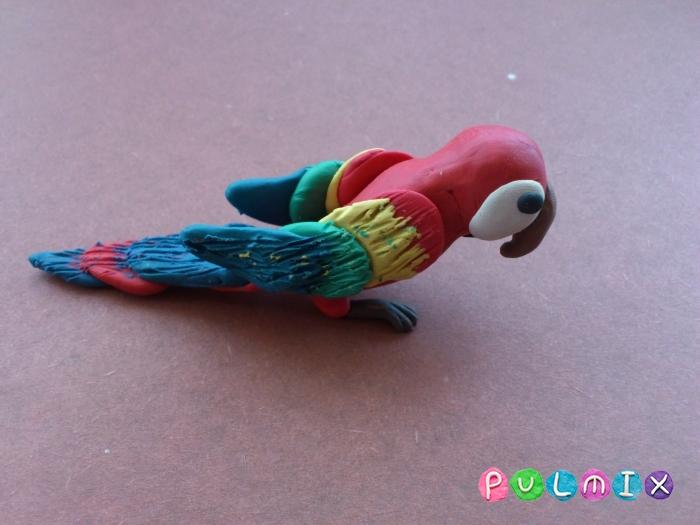 Как слепить попугая из пластилина поэтапно - шаг 10