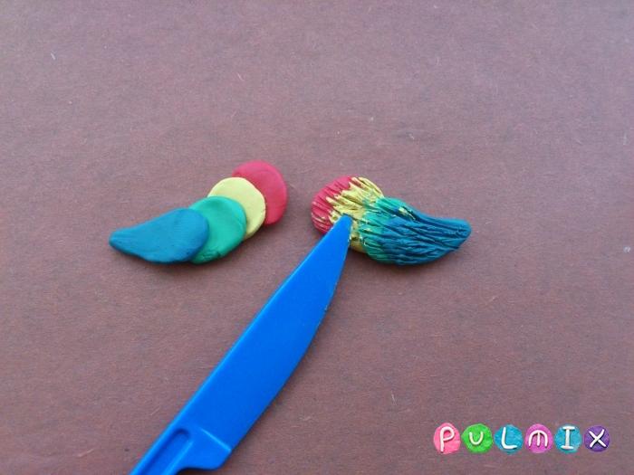 Как слепить попугая из пластилина поэтапно - шаг 8