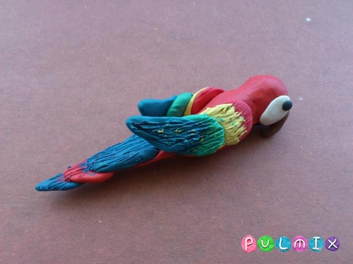 Как слепить попугая из пластилина поэтапно - шаг 9