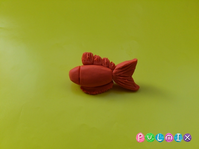 Как слепить рыбку из пластилина поэтапно - шаг 6