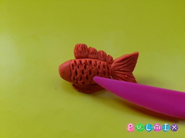 Как слепить рыбку из пластилина поэтапно - шаг 7