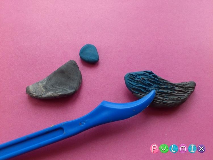 Как слепить синицу из пластилина поэтапно - шаг 9