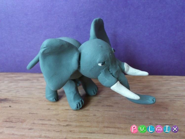 Как слепить слона из пластилина поэтапно - шаг 10