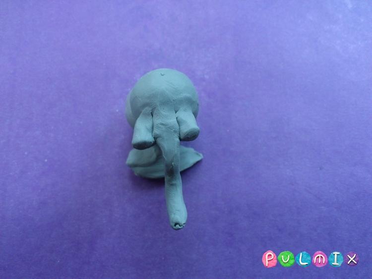 Как слепить слона из пластилина поэтапно - шаг 4