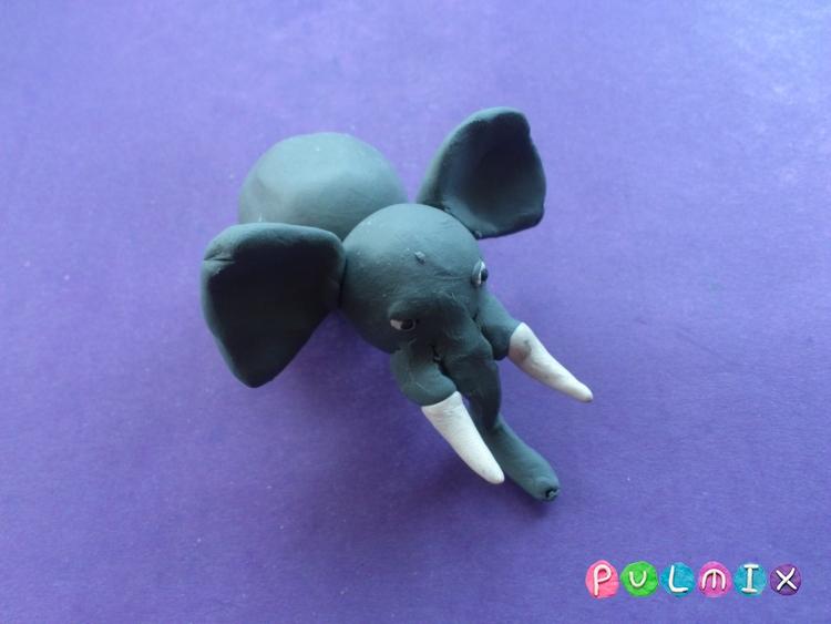 Как слепить слона из пластилина поэтапно - шаг 6