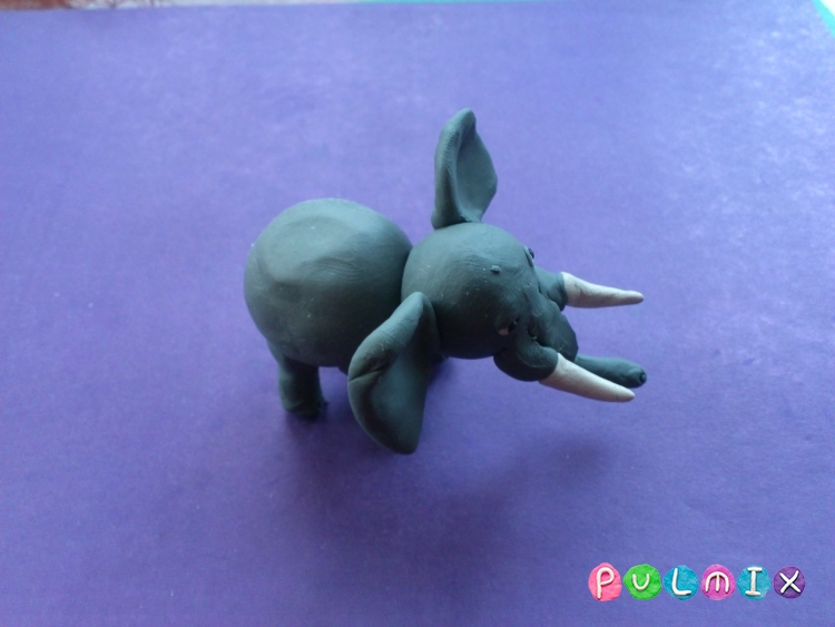 Как слепить слона из пластилина поэтапно - шаг 8
