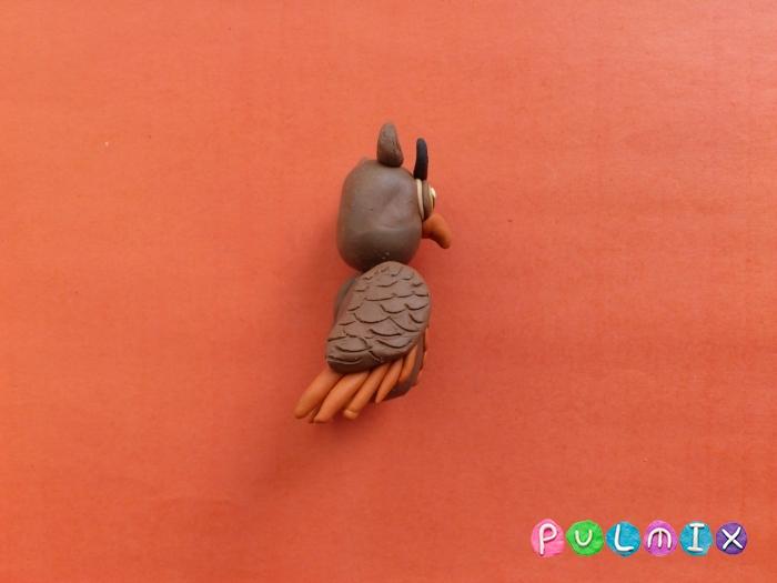 Как слепить сову из пластилина поэтапно - шаг 9
